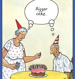 Pictura - Funny Birthday Card - Bigger Cake