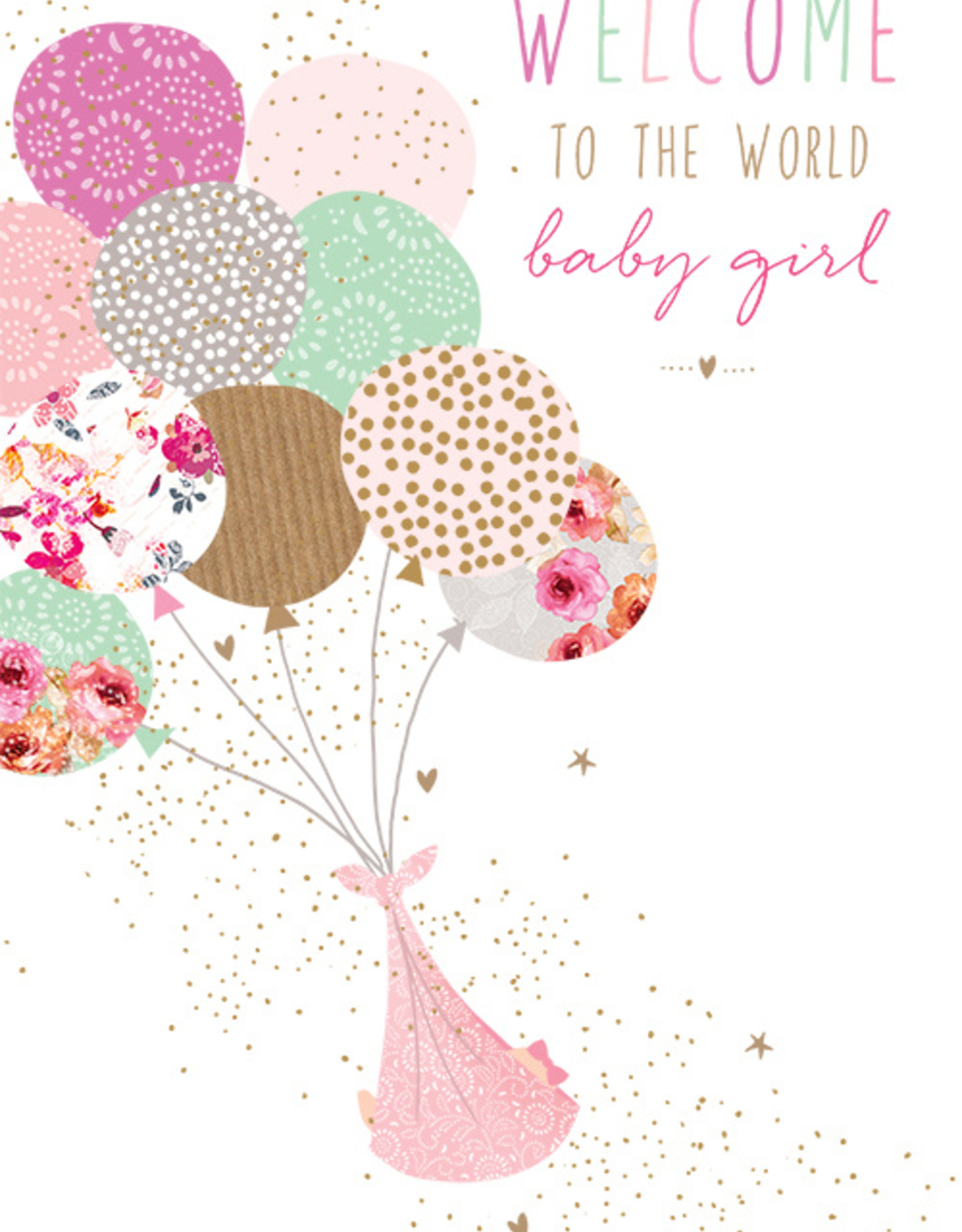 Pictura Pictura - New Baby Girl Card