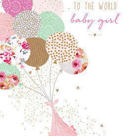 Pictura - New Baby Girl Card