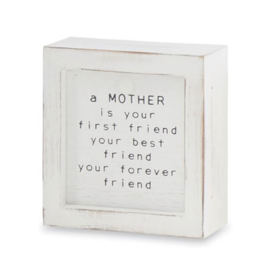 Mud Pie - Small Family Plaque Mother