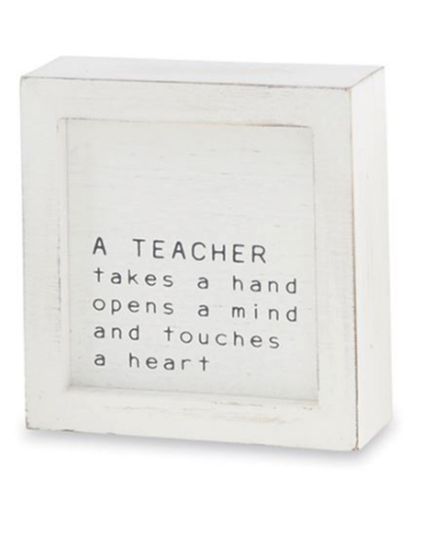 Mud Pie Mud Pie - Small Family Plaque Teacher