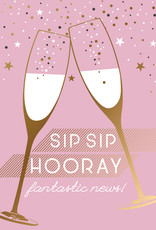 Pictura Pictura - Sip Sip Hooray Engagement Card 60968