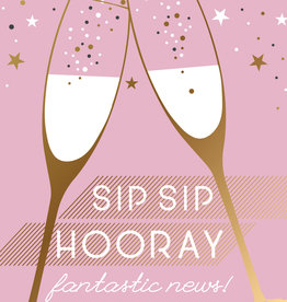 Pictura - Engagement Card  Sip Sip Hooray