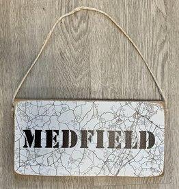 Rustic Marlin Rustic Marlin - Mini Plank City Map - Medfield