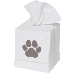Marshes, Fields & Hills - Tissue Box Cover Paw Print Stone