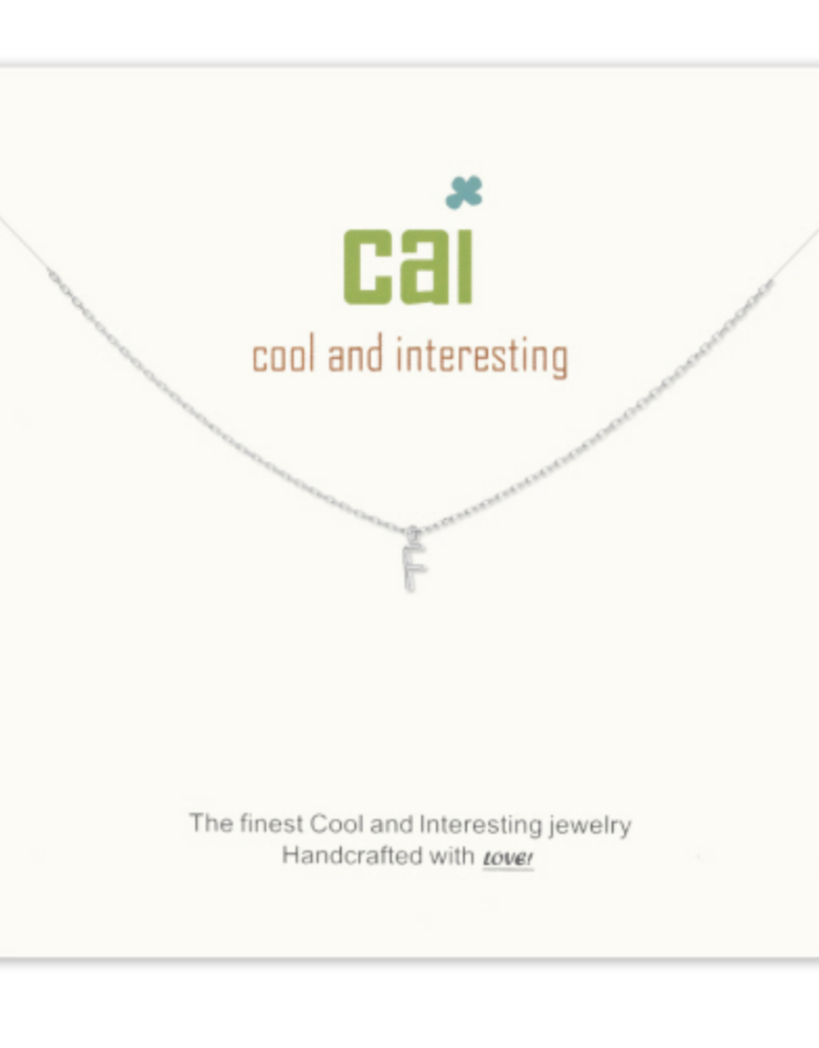 CAI - Silver Mini Initial Neckalace - 16in-2in ext