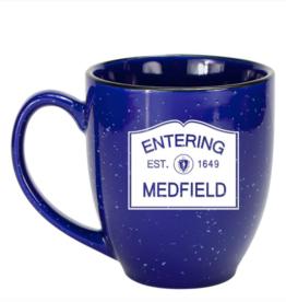 Entering Medfield 1649 Bistro Mug - Cobalt