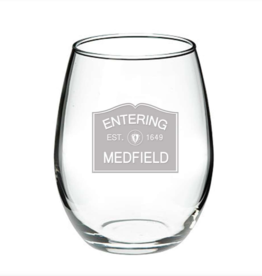 Entering Medfield 1649 Stemless Wine Glass