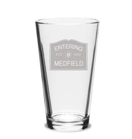 Entering Medfield 1649 Pint Glass