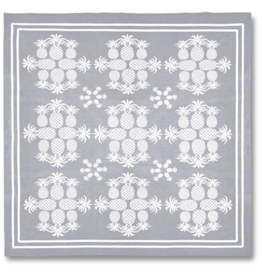 Beach Road Designs - Beach Sheets Pineapples - Metallic Silver