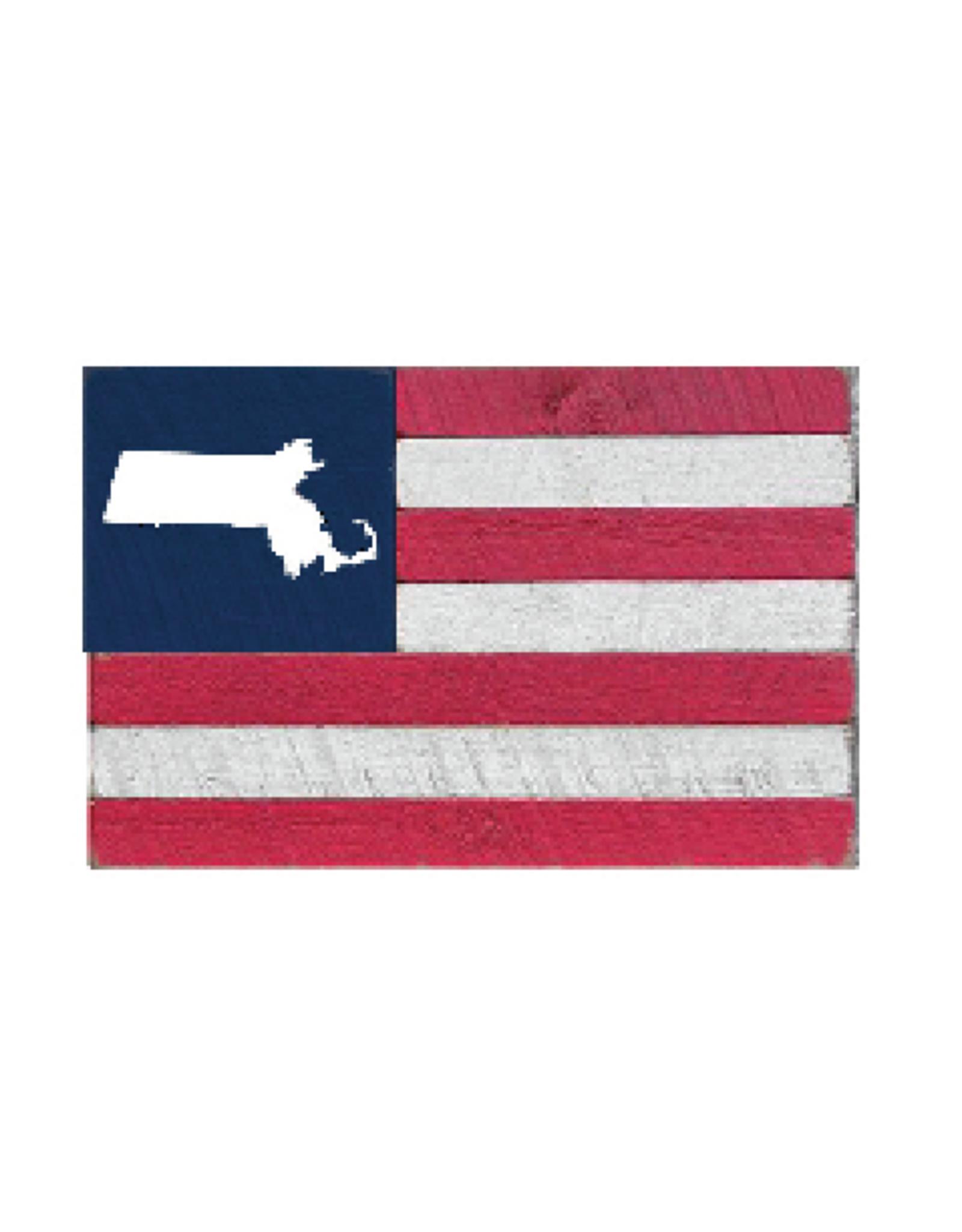Rustic Marlin Rustic Marlin - XL Blocks Flag - MA