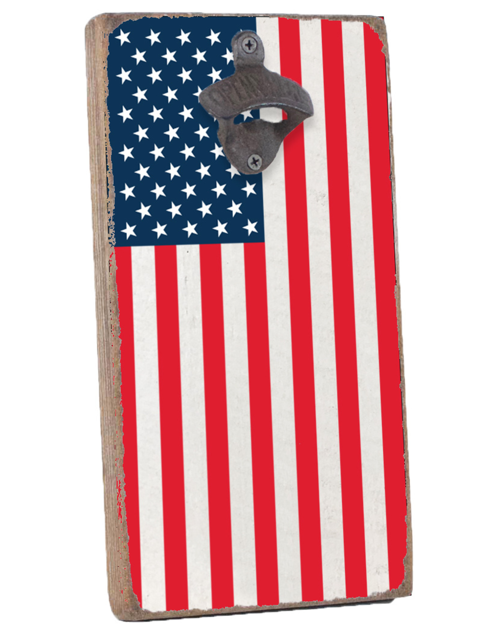 Rustic Marlin Rustic Marlin - American Flag  Bottle Opener
