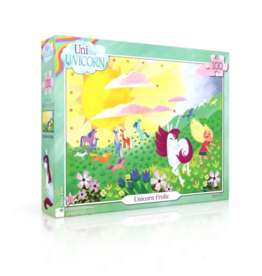 NY Puzzle NY Puzzle - Unicorn Frolic 100pc