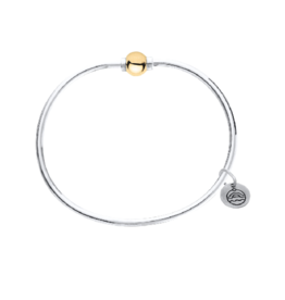 LeStage LeStage - The Classic Cape Cod Bracelet - Sterling Silver with a 14K Yellow Gold Ball