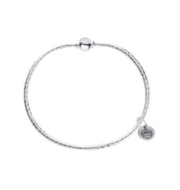 LeStage LeStage - Patterned Cape Cod Bracelet - Sterling Silver with a Sterling Silver Ball