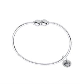 LeStage - Double Cape Cod Bracelet - Sterling Silver with a Sterling Silver Double Ball