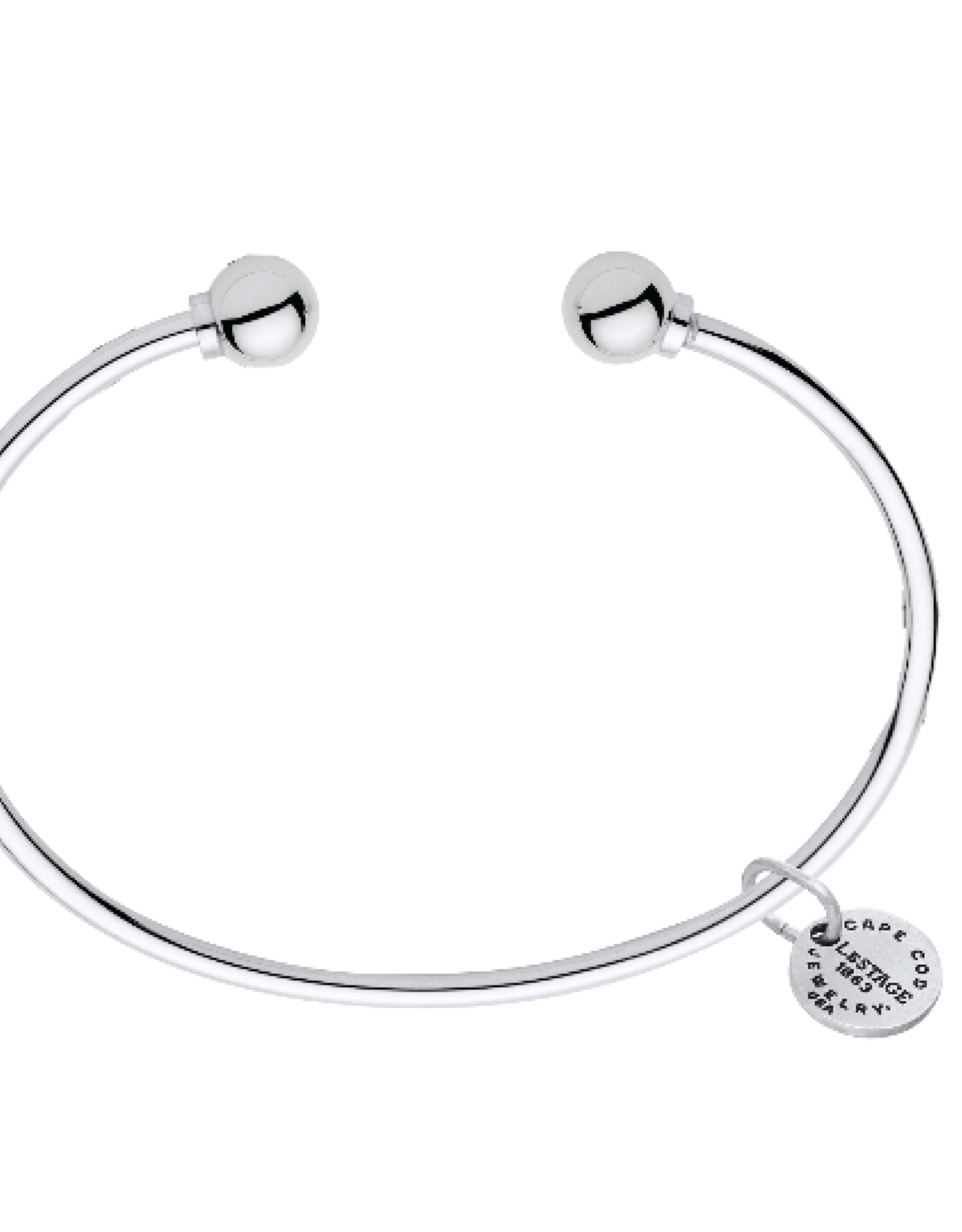 LeStage - The Classic Cape Cod Double Ball Bracelet - Sterling Silver with a Sterling Silver Ball