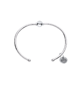 LeStage LeStage - Classic Cuff Cape Cod Bracelet - Sterling Silver with a Sterling Silver Ball