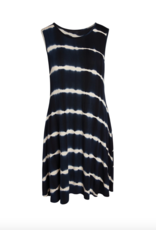 Accent - Bree Tie-Dye Pocket Dress Navy