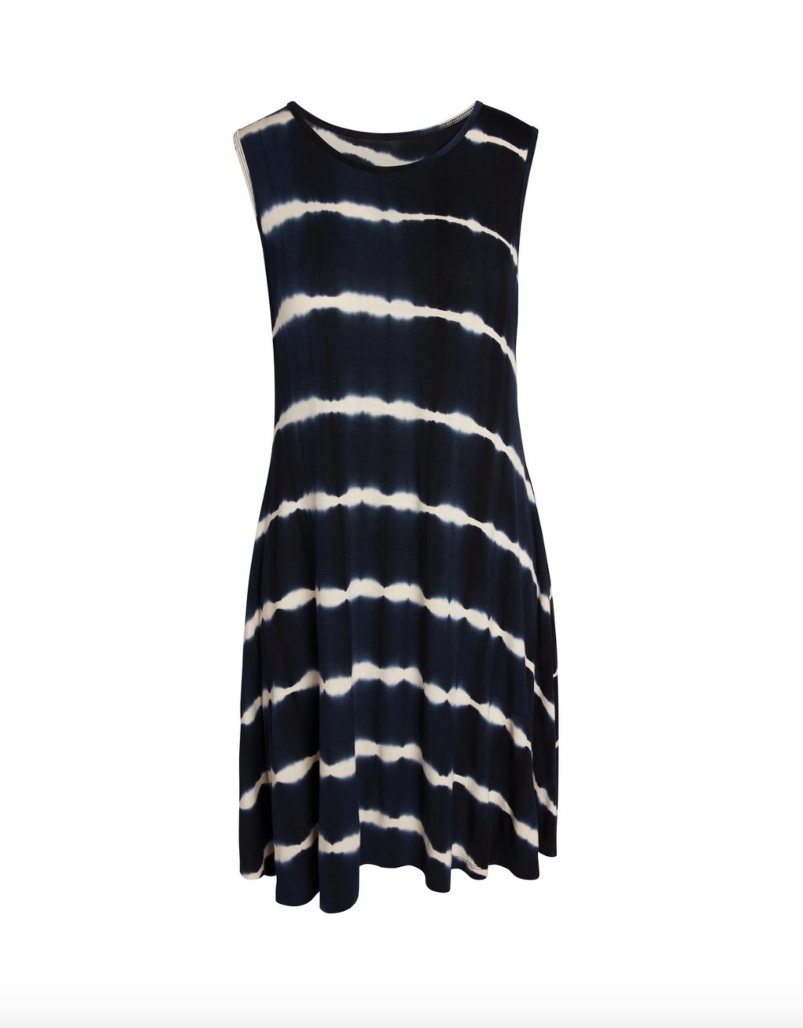 Accent Accessories Accent - Bree Tie-Dye Pocket Dress Navy