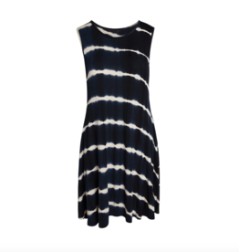 Accent Accessories Accent - Bree Tie-Dye Pocket Dress Navy