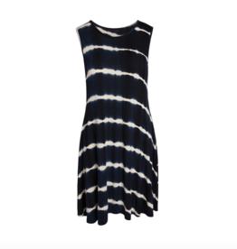 Accent - Bree Tie-Dye Pocket Dress Navy