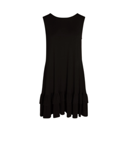 Accent - Alex Ruffle Pocket Dress Black