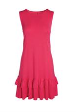 Accent - Alex Ruffle Pocket Dress Fuchsia