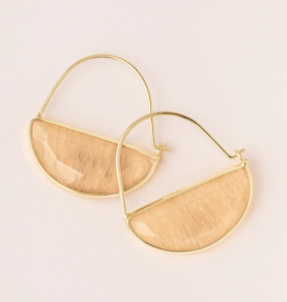 Scout Curated Wears Scout Curated Wears - Stone Prism Hoop Stone of Good Fortune