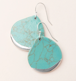 Scout Curated Wears - Stone Dipped Teardrop Earring Stone of the Sky