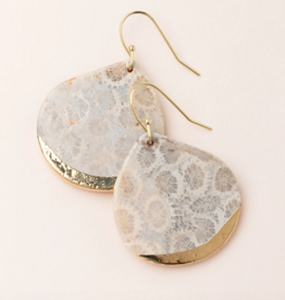 Scout Curated Wears - Stone Dipped Teardrop Earring Stone of the Ocean
