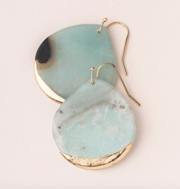 Scout Curated Wears - Stone Dipped Teardrop Earring Stone of Courage