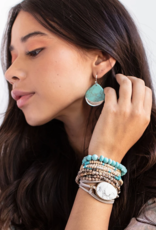 Scout Curated Wears Scout Curated Wears - Stone Dipped Teardrop Earring Stone of Courage
