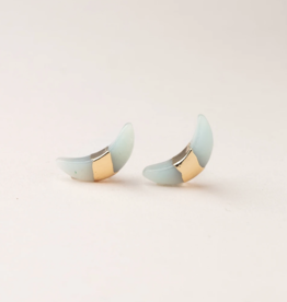 Scout Curated Wears Scout Curated Wears - Crescent Moon Stud Stone of Courage