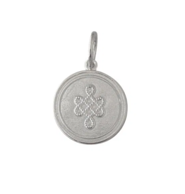 Lola - Mother Daughter Pendant - Small - Silver