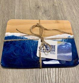 "Blue Anchor Studio - Ocean Wave Cutting board/Cheese Tray 6"" x 8"""