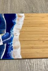 "Blue Anchor Studio - Ocean Wave Cutting board/Cheese Tray 8.5"" x 11"""