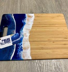 "Blue Anchor Studio - Ocean Wave Cutting board/Cheese Tray 8.5"" x 11"""