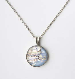 Chart Metalworks  Extra Small Necklace - Mass Map