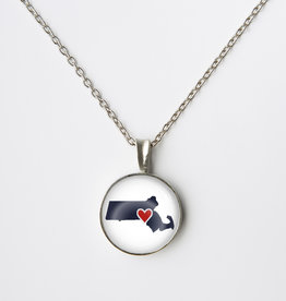 Chart Metalworks  Extra Small Necklace - Heart Mass