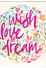 Rustic Marlin Rustic Marlin - 6 x 6 Block Wish, Love, Dream