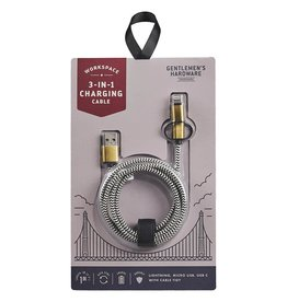 Wild and Wolf Wild and Wolf - 3 in 1 Charging Cable
