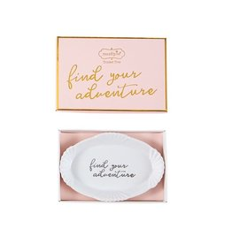 Mud Pie Mud Pie - Adventure Grad Scallop Trinket Dish