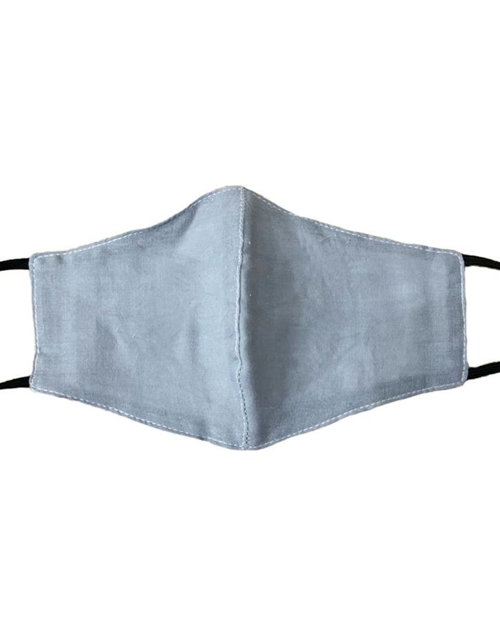 Lotus and Luna Lotus and Luna - Grey Cotton Wide Face Mask W/ Filter Space