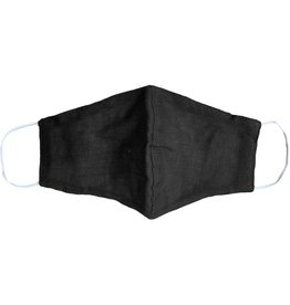 Lotus and Luna Lotus and Luna - Black Cotton Wide Face Mask W/ Filter Space