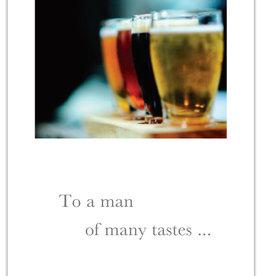 Cardthartic - To A Man Of Many Tastes Birthday Card