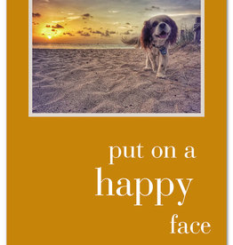Cardthartic - Put on a happy face birthday card