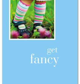 Cardthartic - Girl in Striped Socks Birthday Card
