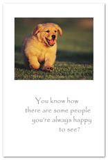 Cardthartic Cardthartic - Puppy Running Friendship Card