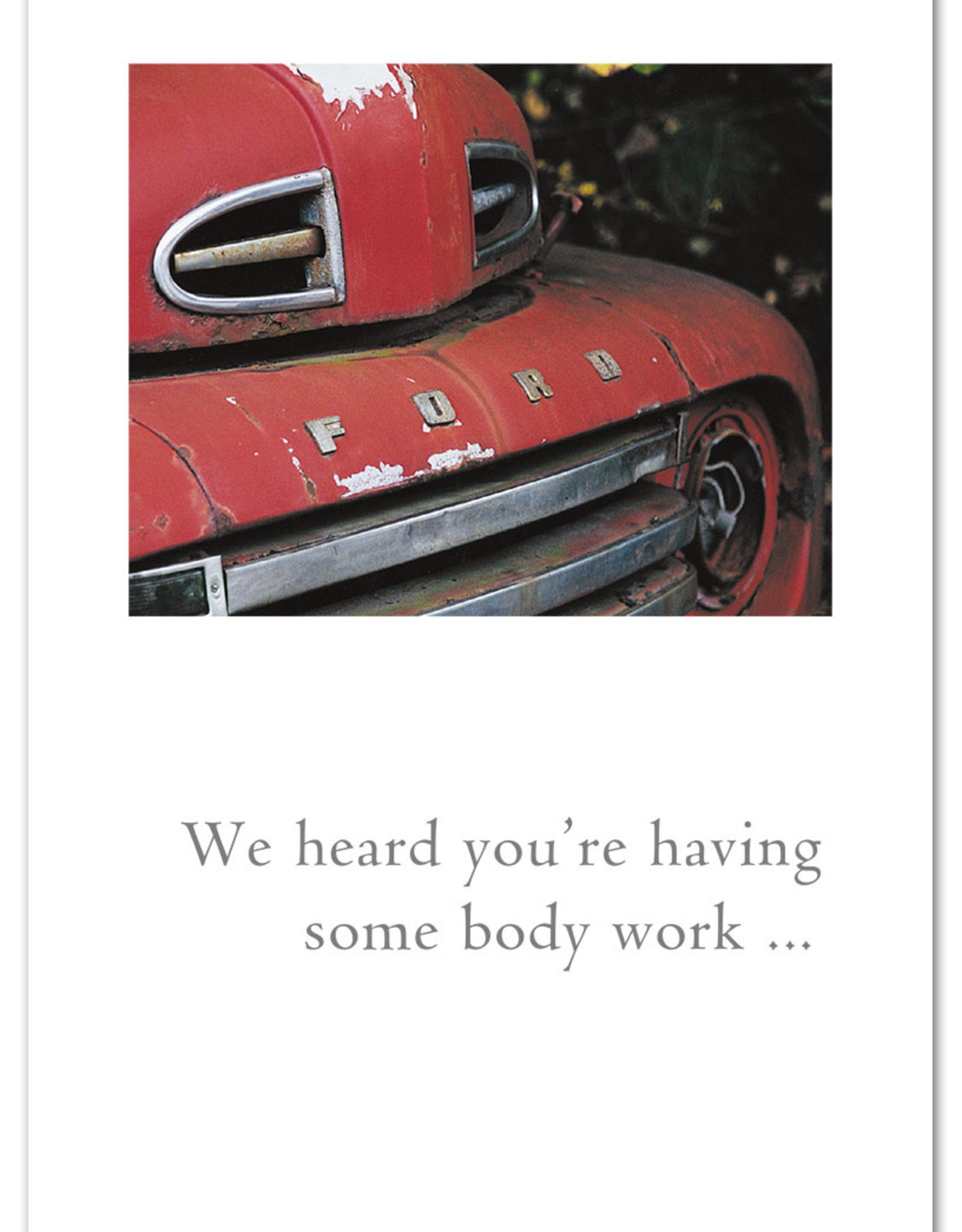 Cardthartic Cardthartic - Red Ford Truck Get Well Card